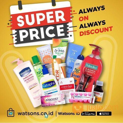 Watsons Temukan produk dengan logo Super Price untuk dapetin diskon dengan harga terbaik! (29519312) di Kota Jakarta Selatan