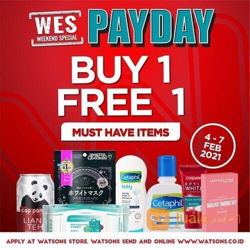 Watsons Weekend Special dari Watsons periode 4-7 Feb 2021 diskon BUY 1 FREE 1 (29519338) di Kota Jakarta Selatan