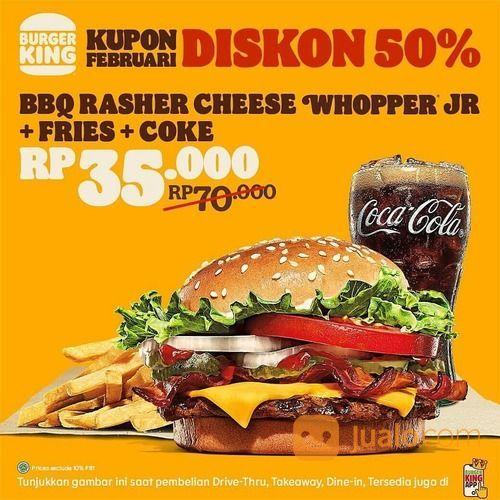 BURGER KING PROMO KUPON Berlaku untuk Dine-In, Takeaway dan Drive-Thru (29520339) di Kota Jakarta Selatan