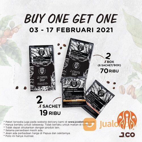 JCO Promo Buy 1 Get 1 JCOFFEE DRIP mulai 3 - 17 Februari 2021. (29520409) di Kota Jakarta Selatan