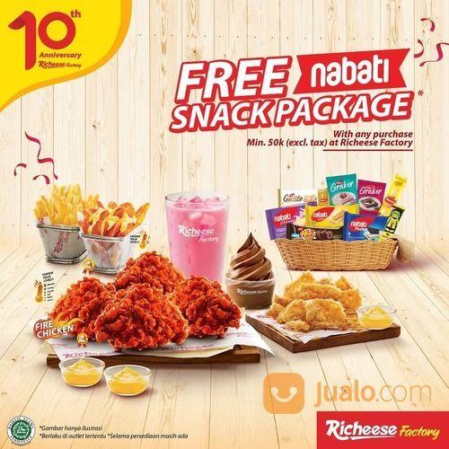Richeese Factory ANNIVERSARY PROMO RF FREE NABATI SNACK (29520505) di Kota Jakarta Selatan