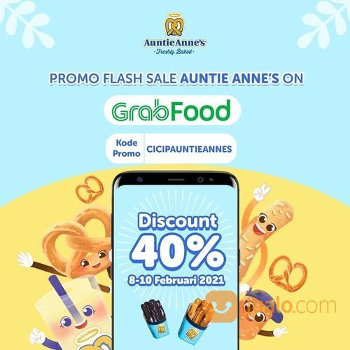 Auntie Anne's Promo FLASH SALE Diskon 40% (29521976) di Kota Jakarta Selatan