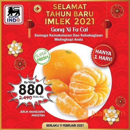 Super Indo Dapatkan harga Jeruk Mandarin Pakistan LEBIH HEMAT hanya Rp880/100gr. (29534951) di Kota Jakarta Selatan
