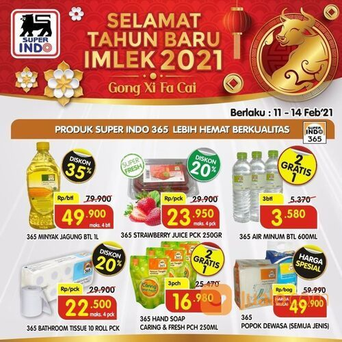 Super Indo PROMO SELAMAT TAHUN BARU IMLEK 2021 Gong Xi fa Cai! (29534962) di Kota Jakarta Selatan