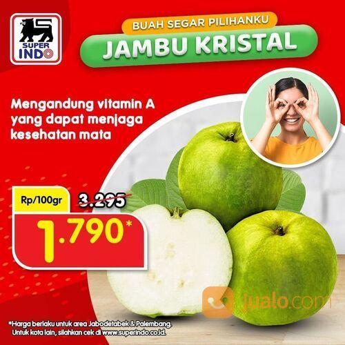 Super Indo Jambu Segar Dapatkan harga LEBIH HEMAT hanya Rp1.790/100gr (29535021) di Kota Jakarta Selatan