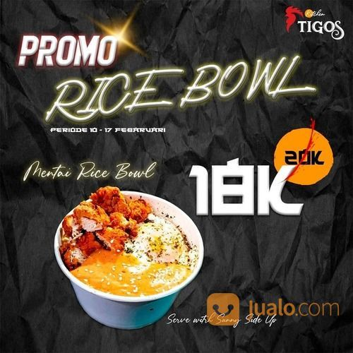 Tigos Kitchen Promo Up to 20% off your favorite Chicken Mentai Rice Bowl (29537035) di Kota Jakarta Selatan
