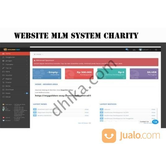 Website MLM System Charity (29546063) di Kab. Tangerang