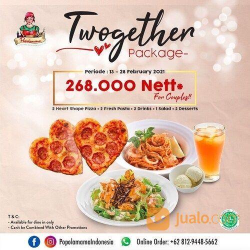 POPOLAMAMA Valentine Dinner For Two, ONLY 268k NETT*!! (29550718) di Kota Jakarta Selatan