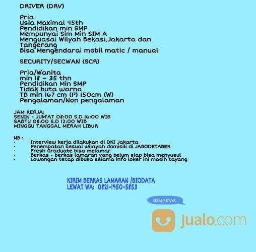 Info Lowongan Security Kantor Hotel Jakarta Selatan Jualo