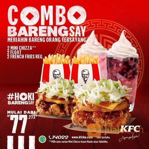KFC COMBO BARENGSAY! Dapatkan 2 Mini Chizza, 2 Float, 2 French Fries Reguler (29551298) di Kota Jakarta Selatan