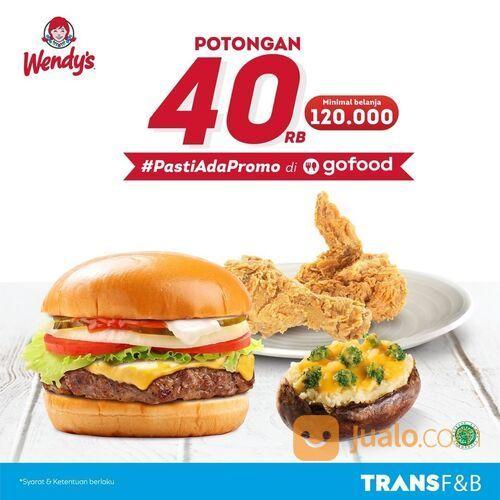 Wendy's di GoFood dan dapatkan potongan sebesar 40rb rupiah (29551509) di Kota Jakarta Selatan