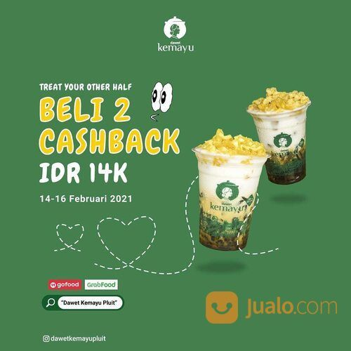 DAWET KEMAYU PLUIT TREAT YOUR OTHER HALF! Yuk nikmati promo spesial: BELI 2 CASHBACK 14K (29553693) di Kota Jakarta Selatan