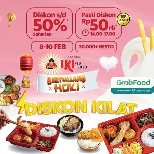 IKI Bento Diskon 50% (Minimal pembelian Rp.69.000)* (29554332) di Kota Jakarta Selatan