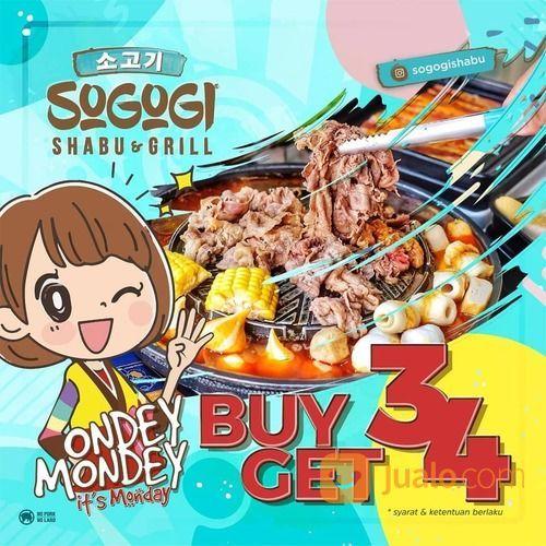 Sogogi Shabu & Grill Promo Ondey Mondey Its Monday (29554526) di Kota Jakarta Selatan