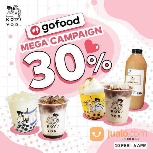 Kopi Yor Promo Gofood Mega Campaign 30% (29562319) di Kota Jakarta Selatan