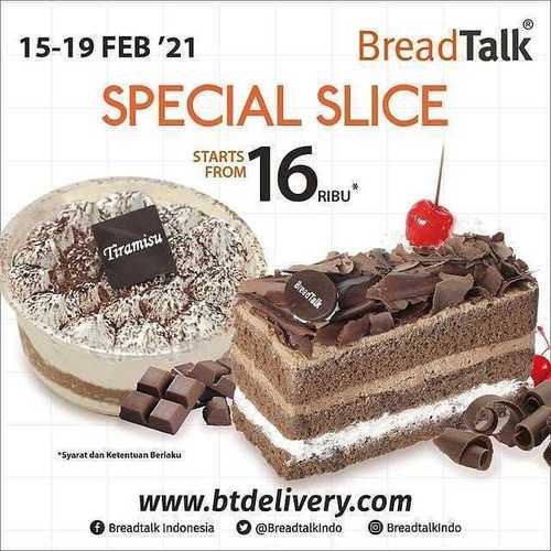 BreadTalk Special Slice Cake mulai dr 16rb (29571349) di Kota Jakarta Selatan