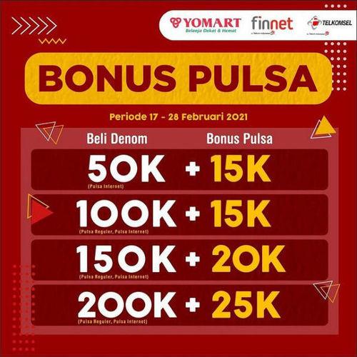 Yomart Bonus Pulsa s/d 28 Februari 2021 (29571629) di Kota Bandung