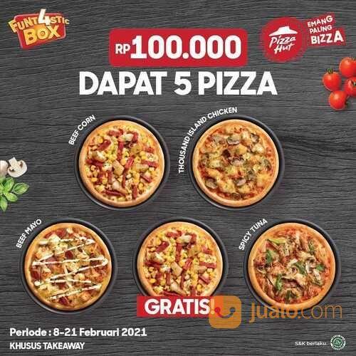 Pizza Hut Rp 100.000 dapet 4 pizza? Dapet 5 pizza! (29577325) di Kota Jakarta Selatan