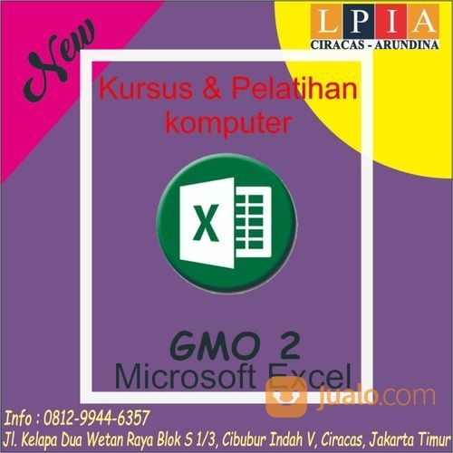 Kursus Microsoft Excel Cibubur (29584510) di Kota Jakarta Timur