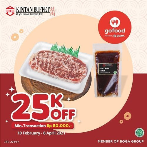 Kintan Buffet Order through Gofood and get a direct discount of 25K! (29598994) di Kota Jakarta Selatan