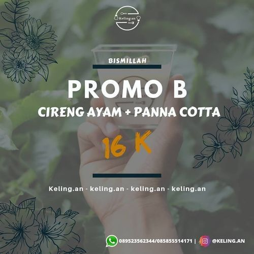 GOOD NEWS!! Selain paket promo A @keling.an juga ada paket promo B juga loh (29606679) di Kota Jakarta Selatan