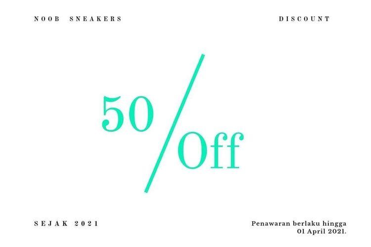Opening Noob.Sneakers akan di adakan Promo 50% All Item (29606877) di Kota Jakarta Selatan