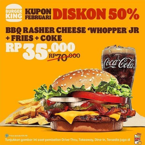 Burger King Promo Kupon Februari, nih MinKing Up lagi (29609949) di Kota Jakarta Selatan