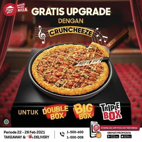Pizza Hut GRATIS upgrade pizza ke pinggiran Cruncheeze (29610109) di Kota Jakarta Selatan