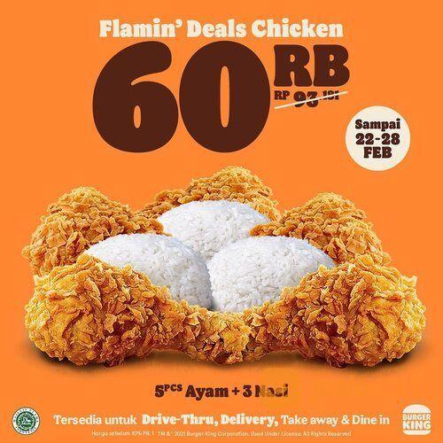 Burger King Promo FLAMIN DEAL CHICKEN (29610443) di Kota Jakarta Selatan