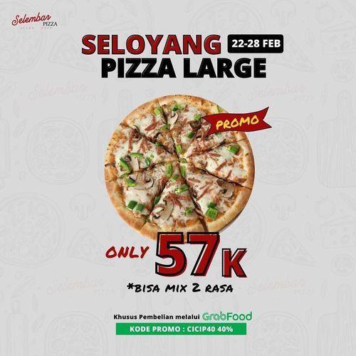 SELOYANG PIZZA LARGE CUMA 57K (29614260) di Kota Jakarta Selatan