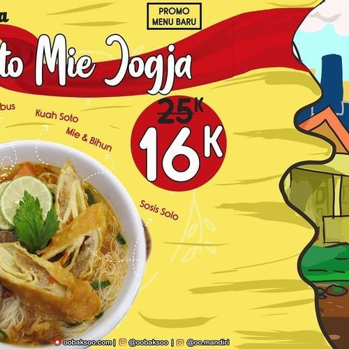 Oo'baksoO Soto Mie Jogja masih promo harga 16rb loh! (29621205) di Kota Jakarta Selatan