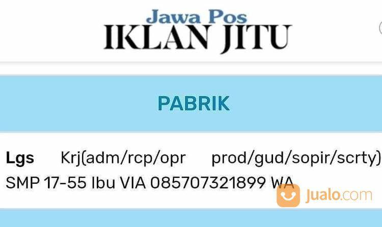 Buruh Keuangan / Accounting (29635159) di Kota Surabaya