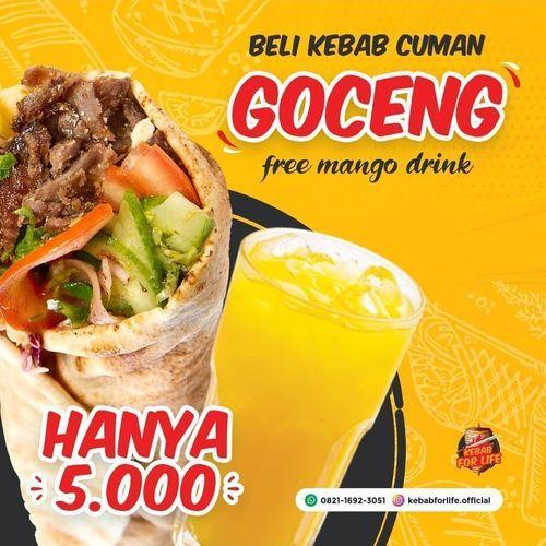 KEBAB CUMAN GOCENG DAN SUDAH FREE MANGO DRINK (29643594) di Kota Bandung