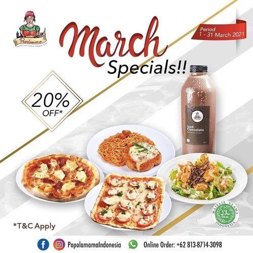 Popolamama MARCH SPECIAL!! 20% OFF* for All Foods (29651014) di Kota Jakarta Selatan