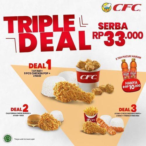 CFC Yakin gak mau order? Jangan lewatkan TRIPLE DEAL SERBA 33RIBU di CFC ya, CFC Lovers! (29657339) di Kota Jakarta Selatan