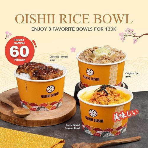 Oishii Rice Bowl Enjoy 3 Favorite Bowls for 130K (29657617) di Kota Jakarta Selatan