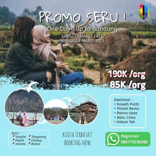 Yang Seru! Buruan diserbu PROMO TERBATAS One Day Trip to Bandung ONLY 85RB per orang. (29668092) di Kota Bandung