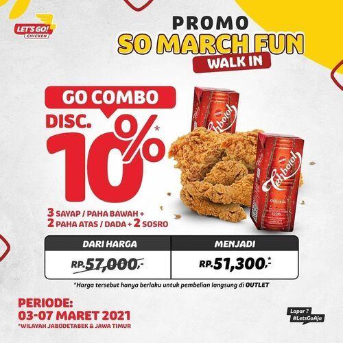 Let's Go! Chicken PROMO SO MARCH FUN Cuma 5 hari gaes!!! (29673674) di Kota Jakarta Selatan
