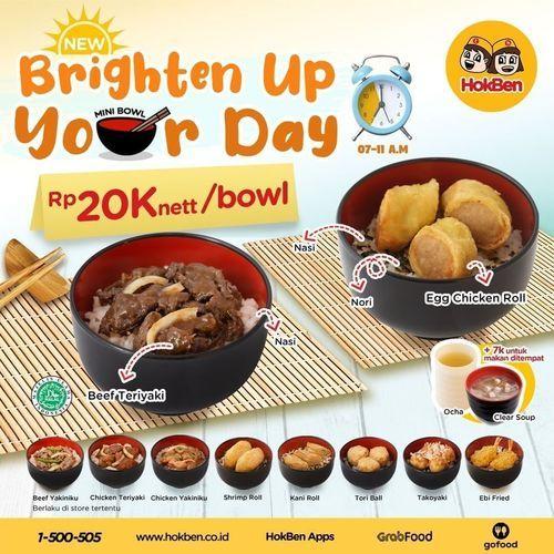HokBen Warning Alert!! Brighten Up Your Day Rp. 20Knett/bowl (29688344) di Kota Jakarta Selatan