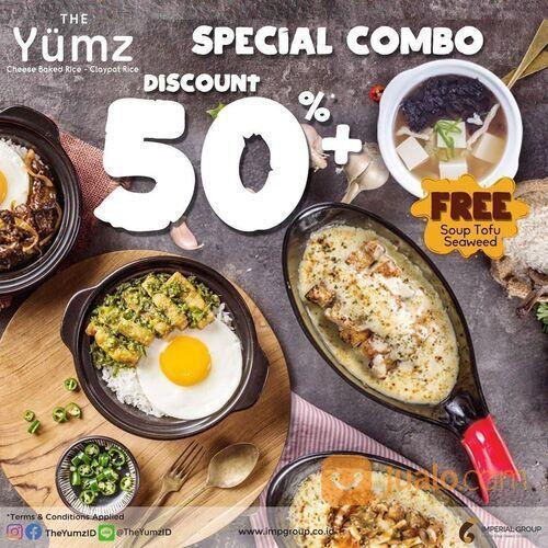 The Yumz Promo SPECIAL COMBO ! Nikmati diskon 50% pada menu pilihan + Gratis Soup Tofu Seaweed !! (29688931) di Kota Jakarta Selatan