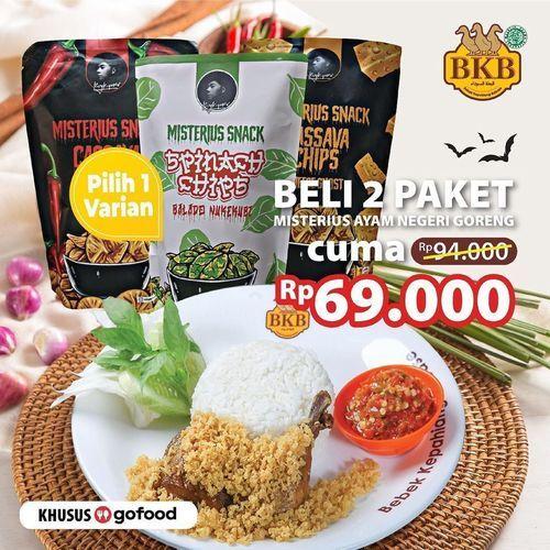 Bebek BKB 2 Paket Misterius Ayam Negeri Goreng di #Gofood cuma seharga Rp. 69.000 saja !! (29689273) di Kota Jakarta Selatan