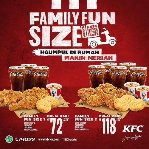 KFC ROXY JEMBER promo FAMILY FUN SIZE !! (29697277) di Kab. Jember