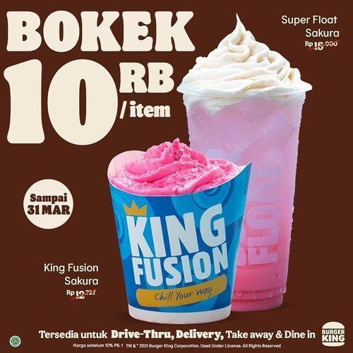 Burger King Promo BOKEK 10 Ribu/Item (29707845) di Kota Jakarta Selatan