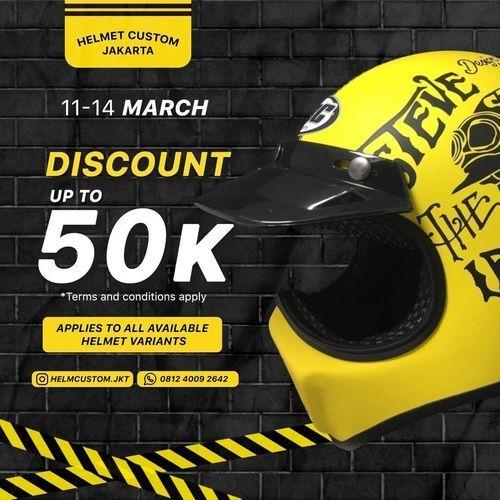 Helmet Custom Jakarta DISCOUNT ALL VARIAN UP TO 50K // MARCH (29720448) di Kota Jakarta Selatan