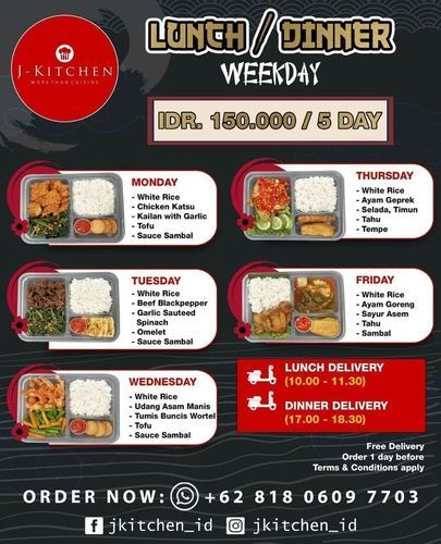 J-Kitchen Order now! Diskon Ongkir !! (29720934) di Kota Jakarta Selatan