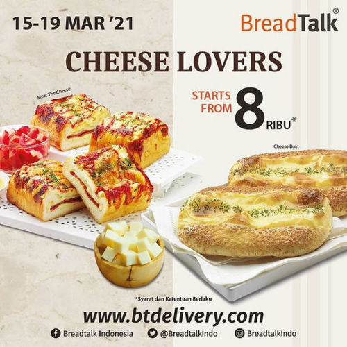 Bread Talk All about CHEESE start from 8rb (29731378) di Kota Jakarta Selatan