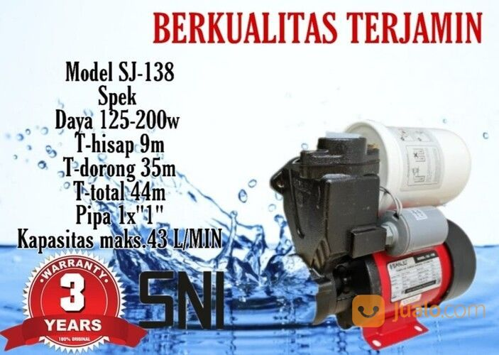 Mesin Pompa Air Sumur Dangkal Otomatis Pompa Air Listrik Pendorong Air Jakarta Utara Jualo