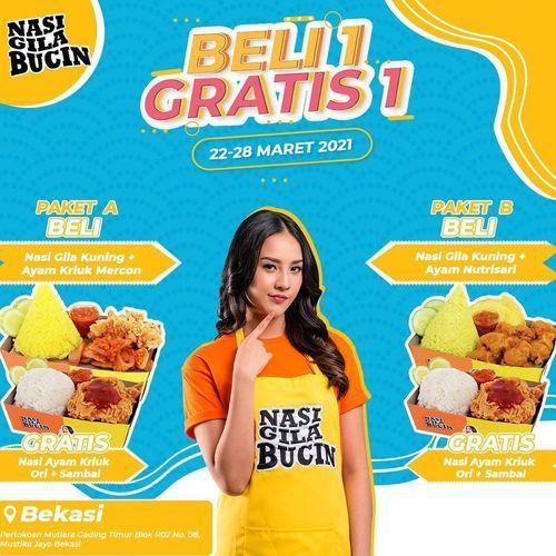 NASI GILA BUCIN promo BELI 1 GRATIS 1 (29775461) di Kota Bekasi