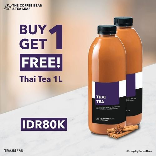 The Coffee Bean Buy 1 Get 1 Free Thai Tea 1 L !! (29775522) di Kota Jakarta Selatan