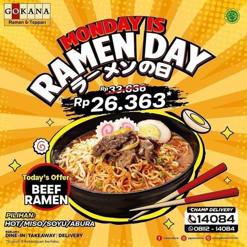 Gokana Ramen Teppan Hujan promo di Hari SENIN! (29775544) di Kota Jakarta Selatan